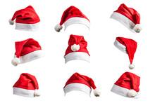 Christmas Hat On White Backgro...
