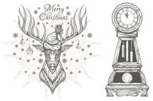 Beautiful Deer With Christmas ...
