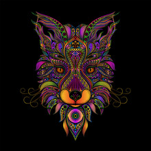 Color Vector Fox From Patterns...