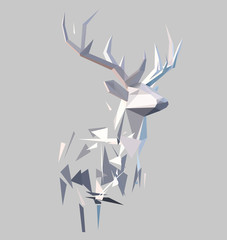 Panel Szklany 3D Polygonal abstract stag