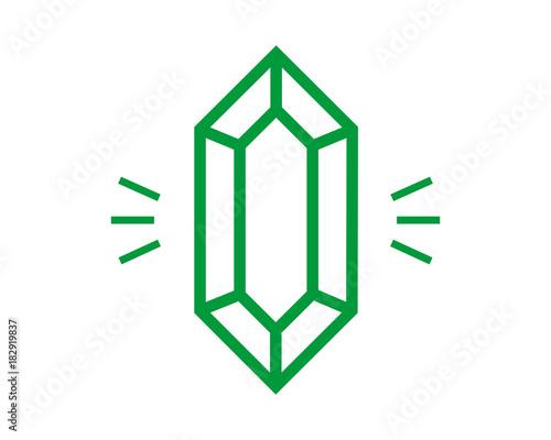 Photo green emerald iocon vektor
