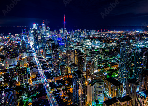 Photo sur Toile Toronto Night Toronto