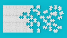 White Jigsaw Puzzle With Unsol...