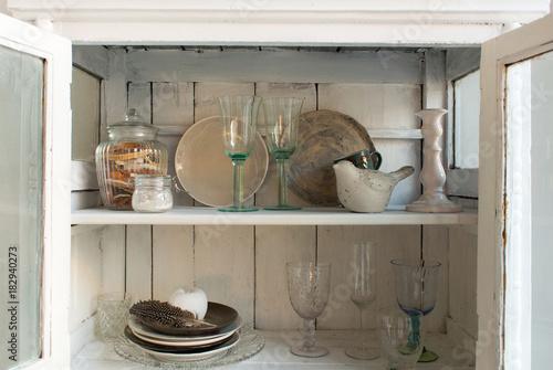 Foto-Plissee - interior with white vintage cupboard (von Григорий Постников)