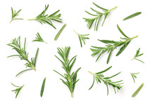Rosemary Isolated On White Bac...