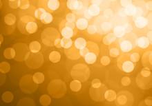 Abstract Gold Light Bokeh Back...