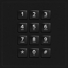 Vector Plastic Keypad. Phone K...