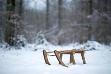 Schlitten Winter