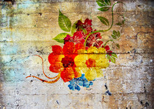 Graffiti. Fleurs Psychédéliq...