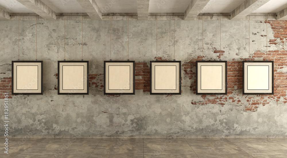 Fototapeta Grunge art gallery