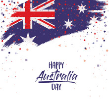 Happy Australia Day Poster Wit...
