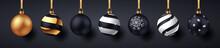Christmas Balls With Shadows O...