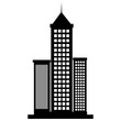 skyscraper buildings isolated icon vector illustration design