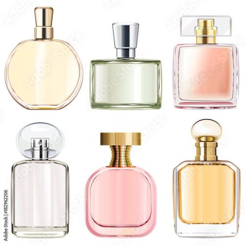 Fototapeta Vector Female Perfume Bottles obraz