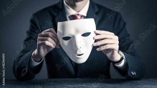 Fotomural 仮面とビジネスマン