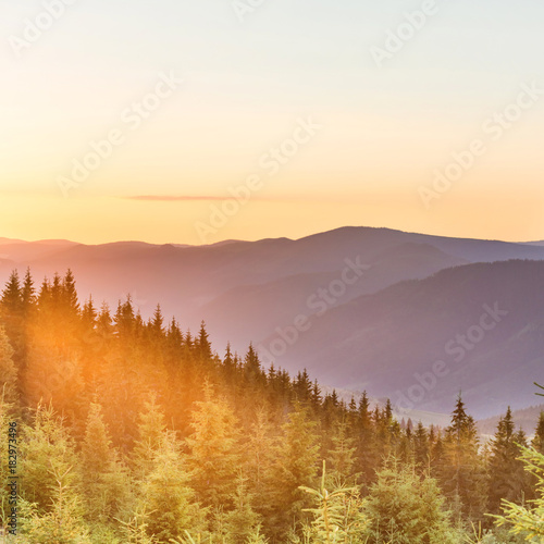 Sunset in the mountains #182973496