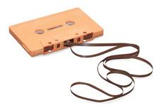 Vintage Orange Audio Cassette ...