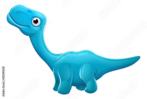 Photo  Cute Apatosaurus Cartoon Dinosaur