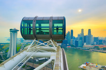 Singapore  Flyer And Downtown ...