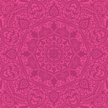 Pink Ornamental Lacy Seamless ...