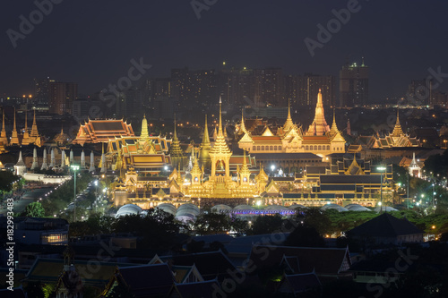 Fotografie, Obraz  Royal cremation ceremony of the late king Bhumibol Adulyadej, conducted at Sanam