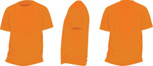 Orange T Shirt. Vector Illustr...