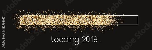 Loading 2018 - golden Stars loading bar Plakát