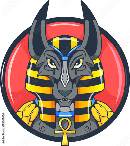Photo Ancient Egyptian god anubis vector picture