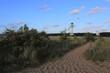 malerischer Weg zum Strand mit schönem Blick auf die Kieler Förde