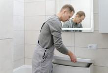 Installation The Washbasin In ...