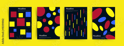 Fotografiet Abstract covers set