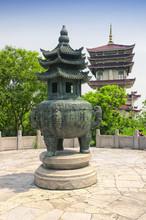 Lingxiao Palace Tower And Prayer Urn Wuxi China