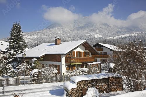 Zdjęcie XXL Widok na Garmisch-Partenkirchen. Bawaria. Niemcy