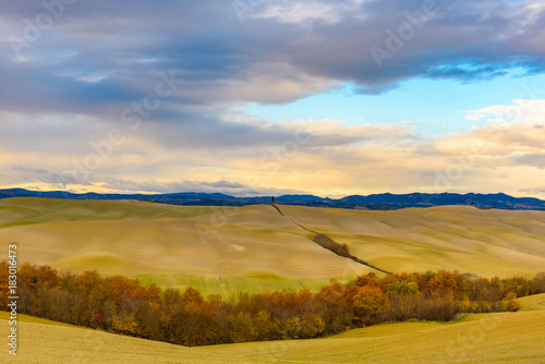 Tuscan landscape in autumn