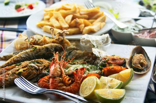 Fotobehang Cyprus Traditional fish meze