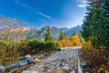 Trail to Hala Gasienicowa, Tatra mountains, Poland