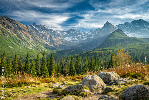 Fototapeta Autumn in Hala Gasienicowa, Tatra mountains, Poland obraz