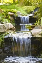 Garden Stream Waterfall; Wallp...