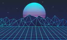 Retro Futuristic Background 80...