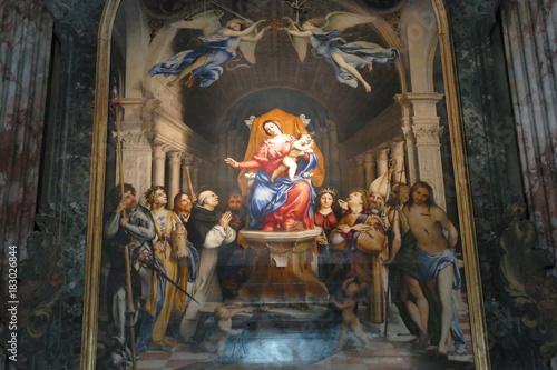 Fotografie, Obraz Bergamo - interno della chiesa di San Bartolomeo