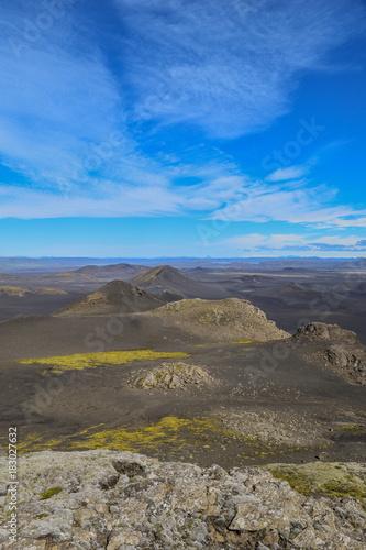 Fotobehang Grijs Volcanic landscape in the highlands of Iceland
