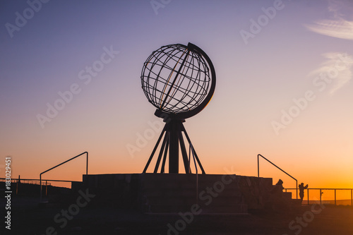 In de dag Noord Europa View of Nordkapp, the North Cape, Norway, the northernmost point of mainland Norway and Europe, Finnmark County