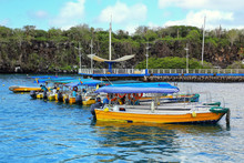 Water Taxis Anchored At Puerto...