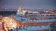Cityscape of Saint Petersburg at night