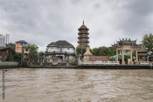 Temple along Chao Phraya River, Bangkok