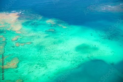サンゴ礁・空撮