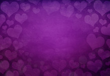 Bold Colored Distressed Heart Background