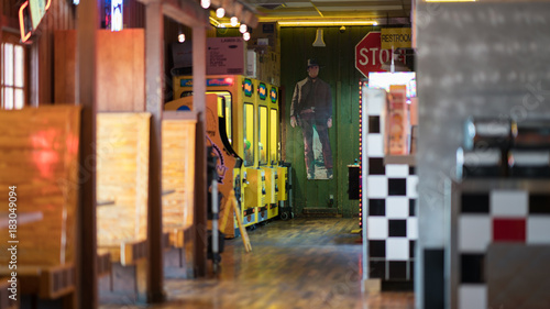 Fotografie, Obraz  Long hallway of classic