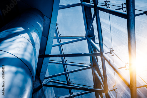 Fotografie, Obraz close up of steel contraction structure abstract technology background