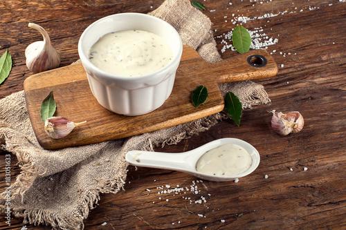 Garlic sauce Canvas Print
